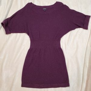 Express Galaxy Purple Sweater Leggings Dress Sz S